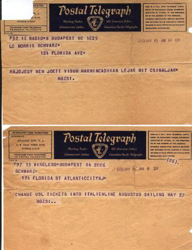 Alarming telegrams from hungary