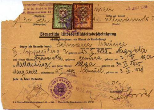 Austrian Family Travel Doc - 1938