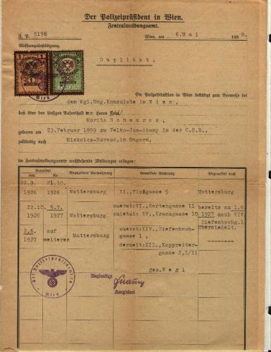 Moritz Schwartz ID - 1938